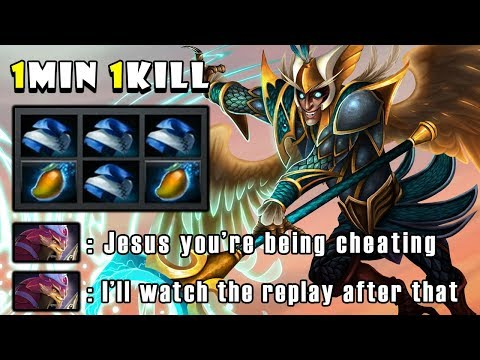 [Skywrath Mage] WTF IMBA Deleted Pangolier Mid with 1MIN 1KILL and 23MIN GG FullGame Dota 2 7.22f