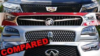 2020 Lincoln Aviator vs 2020 Cadillac XT6 vs 2020 Buick Enclave vs 2020 Infiniti QX60