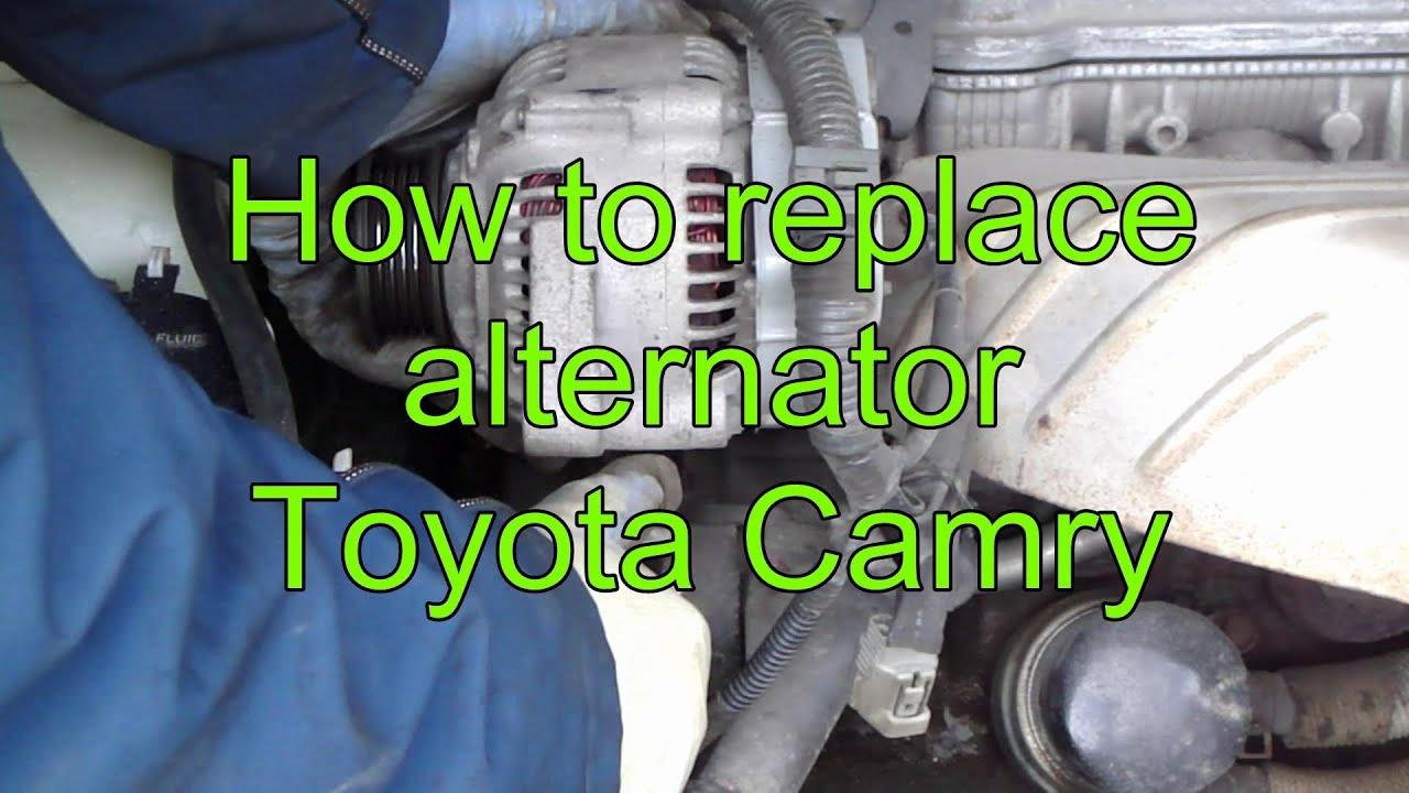 How To Replace Alternator Toyota Camry  Years 1991 To 2002