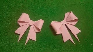 Hướng dẫn gấp cái nơ THẬT XINH XẮN | Hướng dẫn gấp giấy | Origami