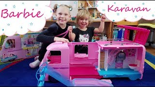 Barbie karavan od Mattela🎀🎀    Testování hraček   Máma v Německu