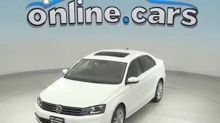 G98842JA Used 2015 Volkswagen Jetta 1.8T SEL FWD 4D Sedan White Test Drive, Review, For Sale