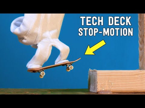 TECH DECK Stop-motion by Andymation // Tech Deck the Halls