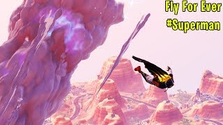 This Glitch Allows You To Become SUPERMAN in Fortnite!! *Fly Forever* (Fortnite Season X Glitches)