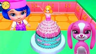 Готовим Праздничный Торт Принцесса | Игры для Девочек - Вкусный и Красивый Тортик