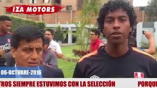 Iza Motors con jugadores de la selección peruana desde el 2016