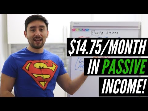 How to Earn $14.75/Month in Passive Income From Blogging