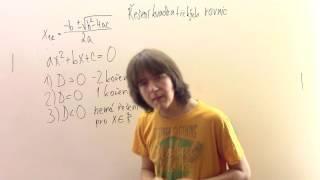Řešení kvadratických rovnic pomocí vzorce