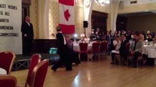 Riccardo and Yulia dancing Tango at Blackpool 2013