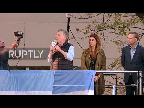Argentina: Macri Launches Election Campaign In Capital