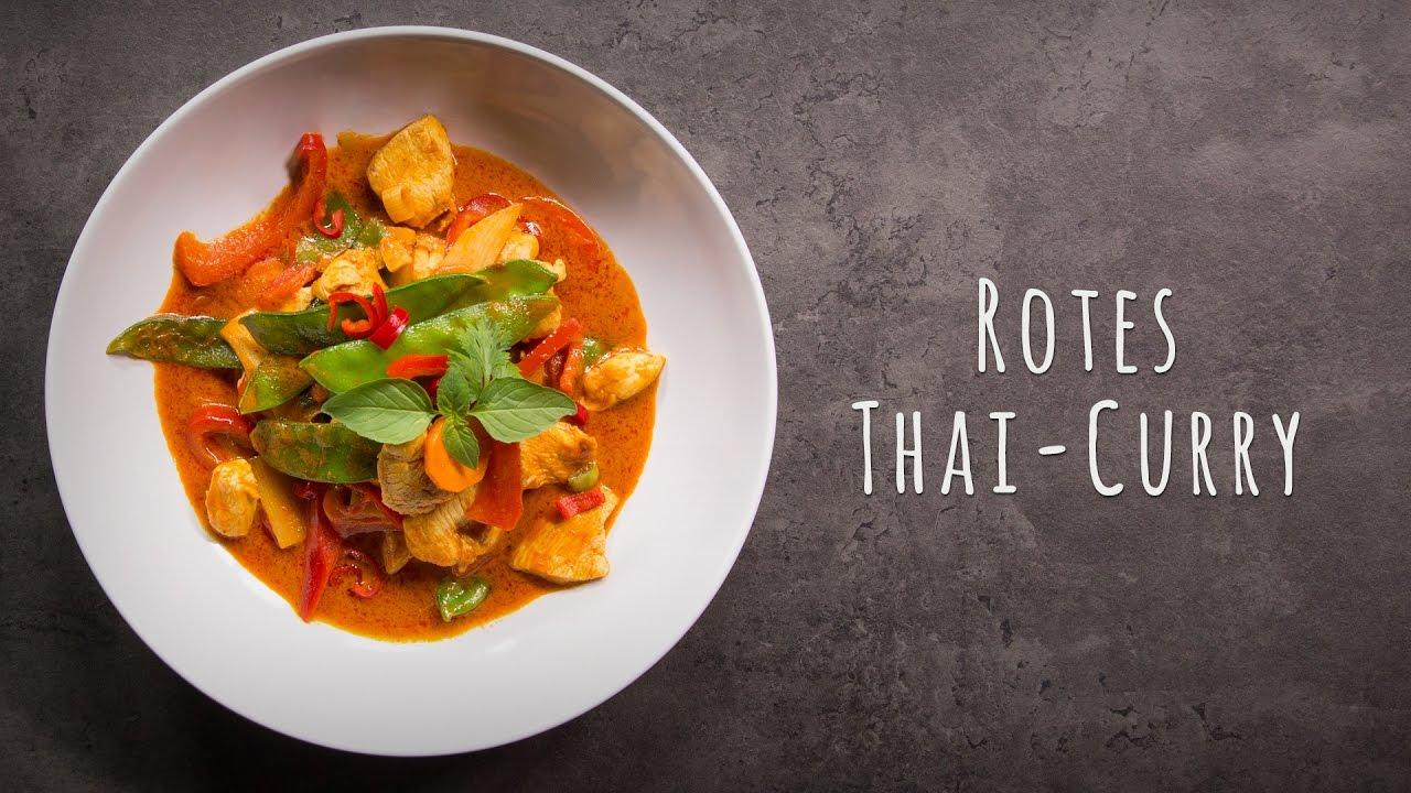 Thai Curry Rezept  Rotes Thai Curry  YouTube