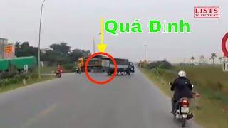 Xôn xao mạng xã hội clip pha đánh lái tránh tai nạn trong gang tấc của tài xế xe ben