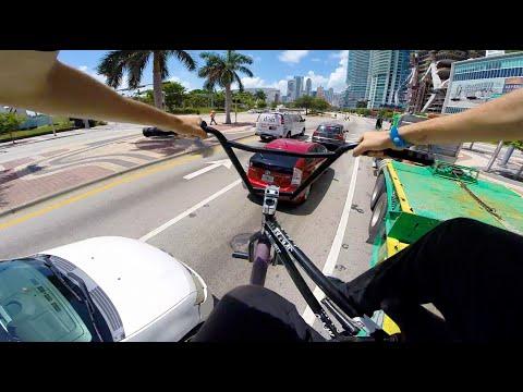 POV BMX Bike Riding in MIAMI