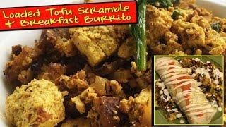 Loaded Tofu Scramble & Breakfast Burrito | The Vegan Zombie
