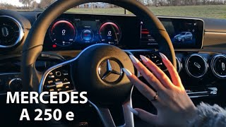 ASMR CAR TAPPING ✨ Mercedes A250e + LENS TAPPING 😍 (fast tapping & scratching)