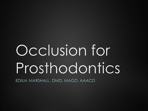 Occlusion for Prosthodontics
