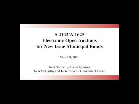 S 4142 A 1625 Electronic Open Auctions for New Issue Municipal Bonds - 3/8/2016
