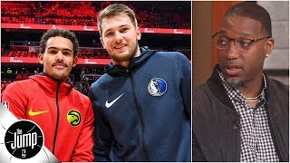 Trae Young and Luka Doncic are 'neck and neck' for Rookie of the Year – Tracy McGrady | The Jump
