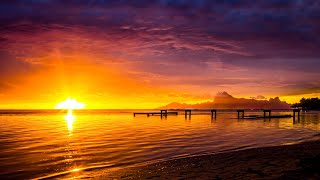 4K Relaxation: Golden Hour In Paradise + Healing Music Nature Film -Sunrises & Sunsets (+ Locations)
