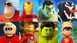 Marvel Avengers & Incredibles Team up! Iron Man, Hulk, Spider-Man, Captain America, Thor Gamelpay!