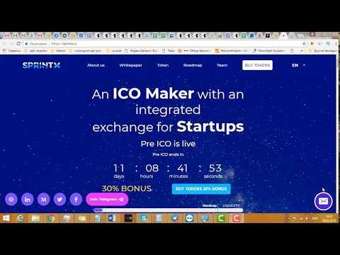Sprintx платформа которая позволит стартапы превращать в криптовалюты на блокчейне .