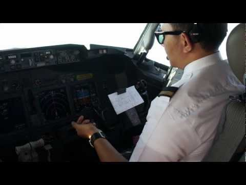 First Officer Approach Checklist to Balikpapan, Lion Air, Boeing 737-900ER, Indonesia