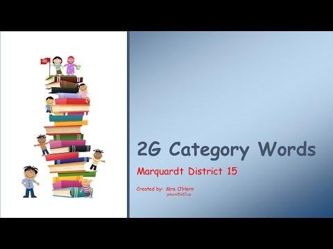 2G Category Words