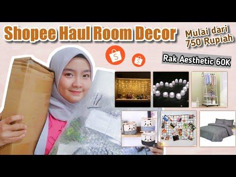 shopee haul room decor | unboxing plus review peralatan