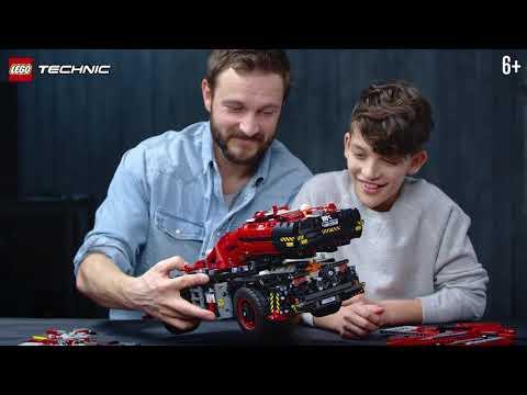 История создания невероятного Подъемного крана для пересеченной местности - LEGO Technic
