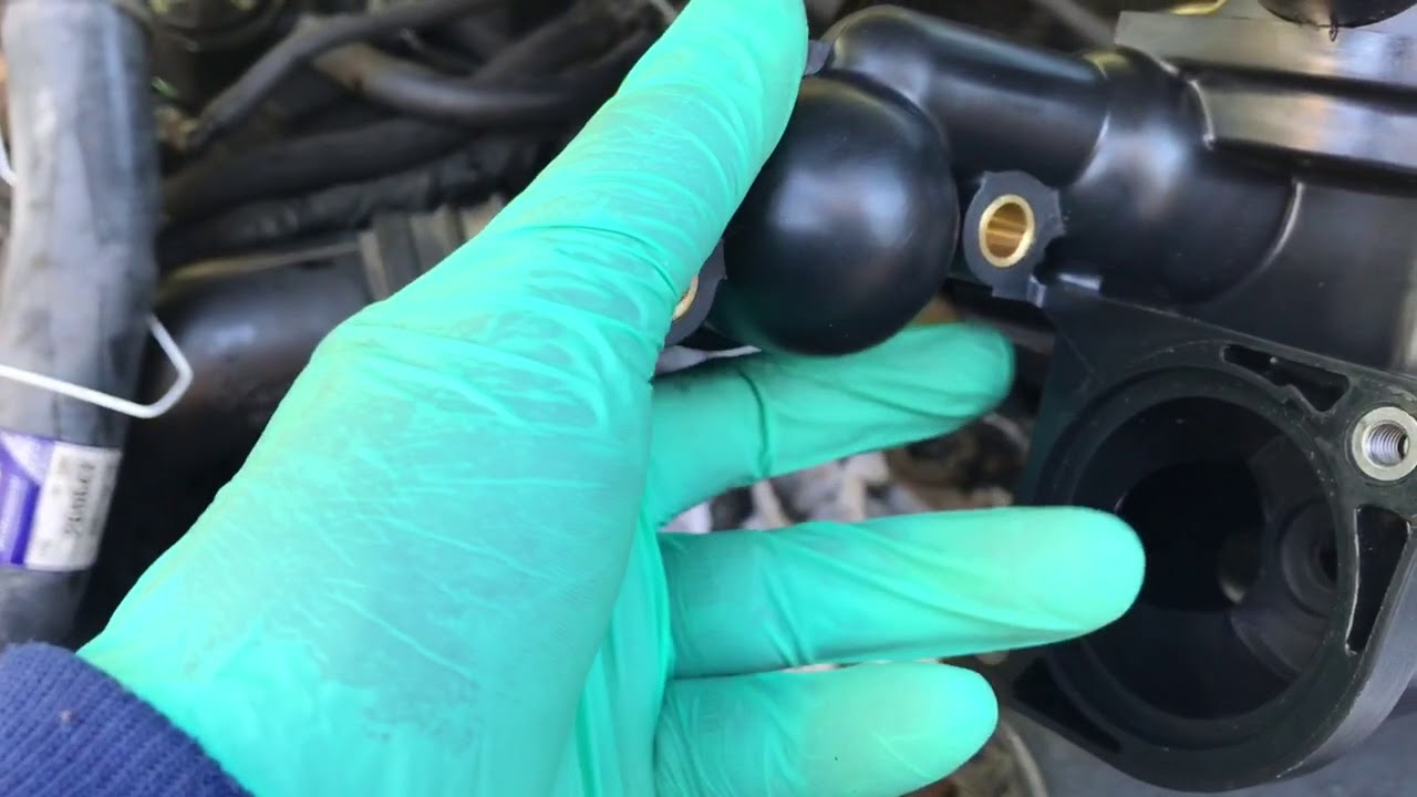 Replacing Thermostat Housing Youtube