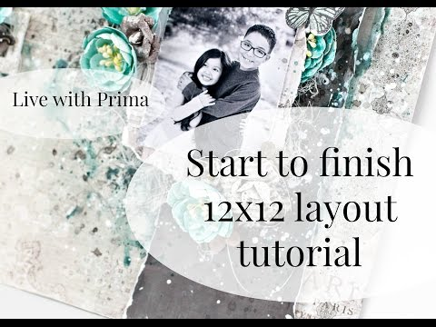 Mixed media techniques on scrapbook layout from YouTube · High Definition · Duration:  22 minutes 33 seconds  · 1.000+ views · uploaded on 18.01.2017 · uploaded by Tiffany Solorio