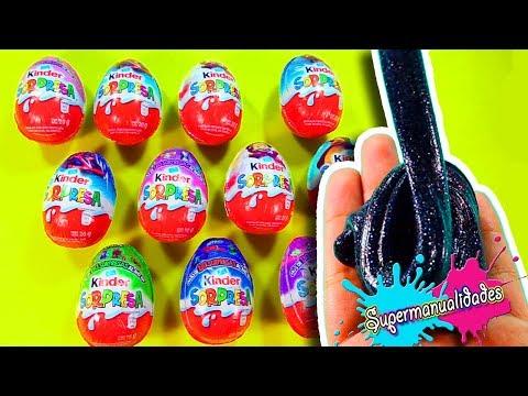 DON'T choose the wrong kinder surprise egg to make Slime / Supermanualidades