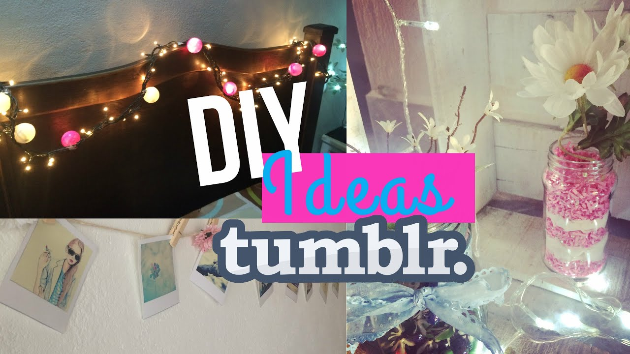 Diy tumblr decora tu habitaci n f cil r pido y muy for Ideas para decorar habitacion hippie
