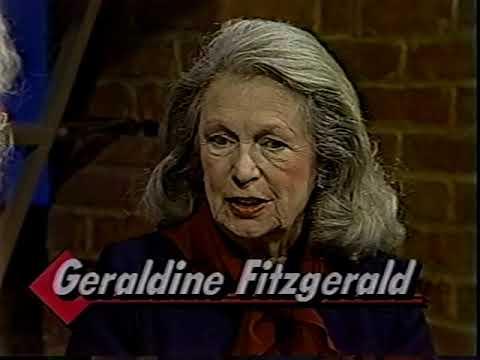 Geraldine Fitzgerald, Katie Kelly--1985 TV Interview, Alzheimer's
