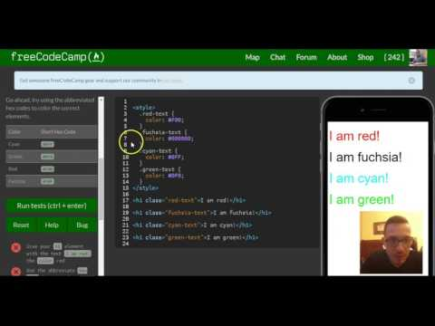 Use Abbreviated Hex Code, FreeCodeCamp Review, Html & Css, Lesson 54