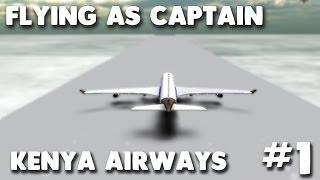Kenya Airways A340 | Flying as Captain #1 | Roblox