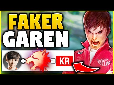 I TRIED OUT FAKER'S GAREN MID LANE STRATEGY! I CAN'T BELIEVE THIS WORKED?! - League of Legends