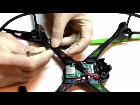 Sky Viper v2400HD drone modifications - LED's, Controller Antenna, Battery