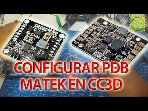 Cómo configurar PDB MATEK 5 en 1 en CC3D |DRONEPEDIAMX