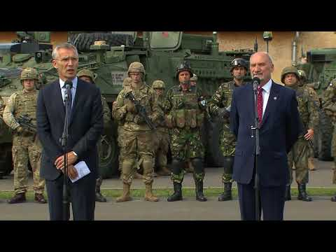 NATO Secretary General press point with Polish Defence Minister, 25 AUG 2017