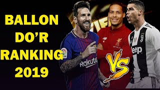 Ballon D'or Ranking 2019 June [top Best Football Player In The World ]
