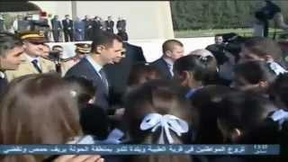 Syria - Assad Visits the Martyr