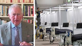 video: Coronavirus latest news: Prince Charles hails NHS Nightingale hospital: 'In this dark time, this place will be a shining light'
