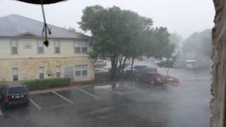 Extreme weather storm hits Cedar, Park Texas 5/23/17