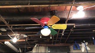 Heritage Multi-color Hugger Ceiling Fan | HD Remake