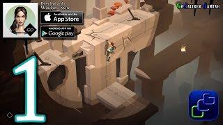 Lara Croft GO Android iOS Walkthrough - Gameplay Part 1 - The Entrance, The Maze Of Snakes