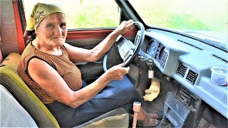 GRANDMA DRIVES A CAR