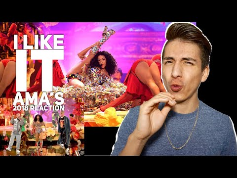 Cardi B, Bad Bunny, J Balvin- I Like It AMAs 2018 |E2 reacts