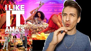Cardi B, Bad Bunny, J Balvin- I Like It AMA's 2018 |E2 reacts
