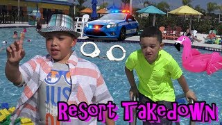 HOTEL BREAK IN!!! POLICE SEARCH AMAZING RESORT FOR SNEAKY KID RYAN